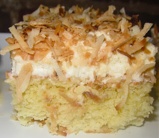 Haute Heirloom Coconut Tres Leches Cake With Coconut