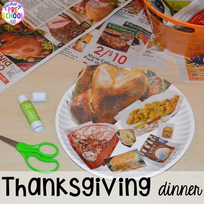Thanksgiving themed activities and centers for preschool
