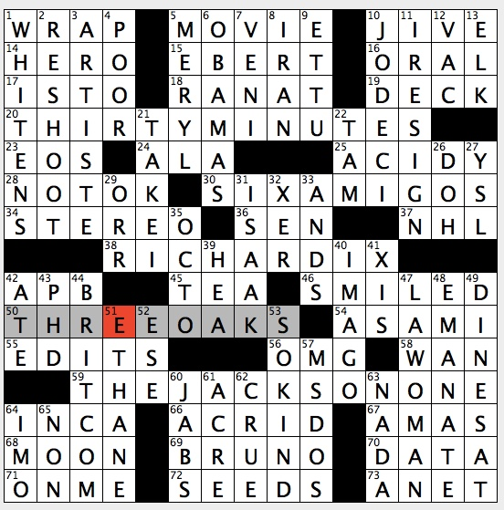 Togetherness crossword clue