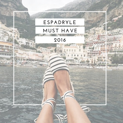 Espadryle - must have 2016