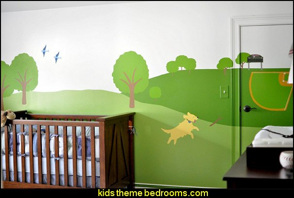 My Wonderful Walls Cat and Dog Wall Mural Stencil  treehouse theme bedrooms - backyard themed kids rooms - cat decor - dog decor - bugs and critters theme bedrooms - camping theme bedrooms - Happy Camper little boys outdoor theme bedroom - tree wall decal - dog wall decal stickers - treehouse bed - girls treehouse theme bedrooms - camping room decor - camping theme room
