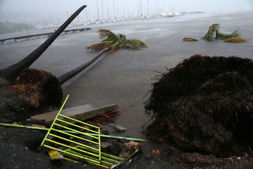 30 Shocking Pictures That Show How Catastrophic Hurricane Irma Is - Debris Is Seen During A Storm Surge Near The Puerto Chico Harbor In Fajardo, Puerto Rico