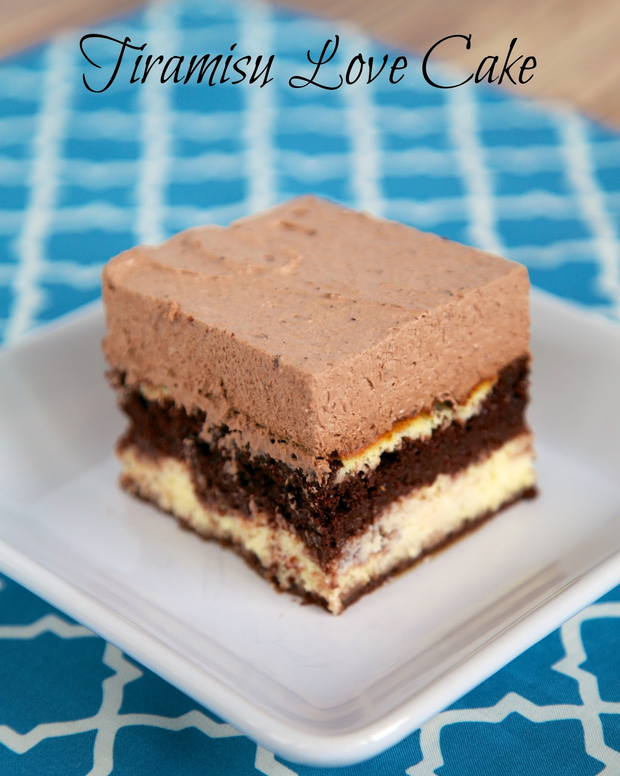 Tiramisu Love Cake - all the flavors of tiramisu in a cake. Cake mix, sweetened ricotta, Kahula topped with a chocolate pudding, Cool Whip and Kahula frosting. This is SO good! Can make ahead for party!