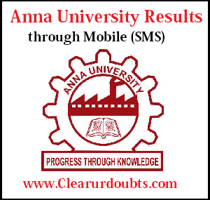 Anna University Results Nov Dec 2017 Via SMS
