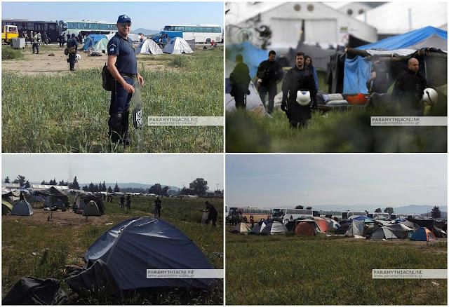 Με 30 άντρες από την αστυνομική διεύθυνση Θεσπρωτίας η εκκένωση της Ειδομένης (+ΦΩΤΟ)