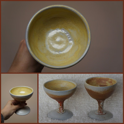 Soda fired handmade pottery goblet by Lily L.