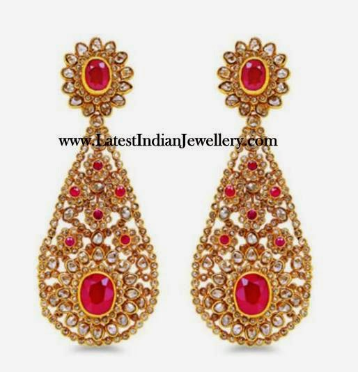 Chakri Diamonds and Rubies Bridal Set