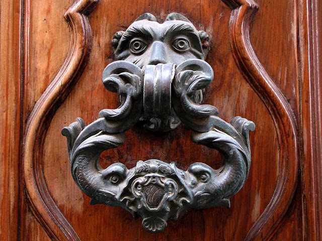 Ornate door handle or knocker, Livorno