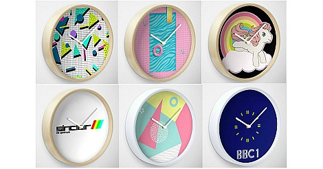 Collage of 80s Wall Clocks