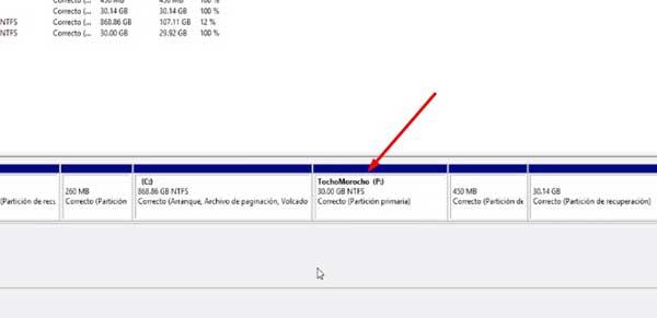 aumentar espacio en disco d windows
