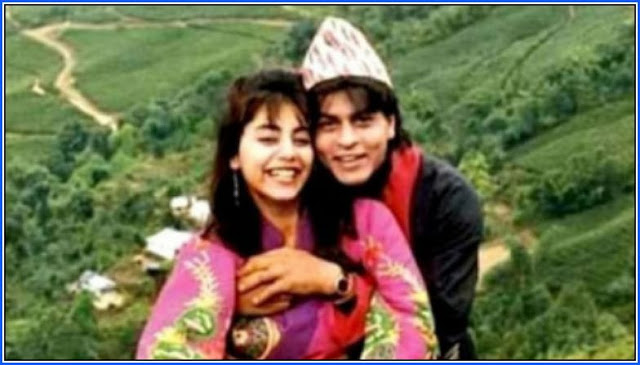 Shah Rukh Khan and his wife Gauri Khan during their honeymoon in Darjeeling