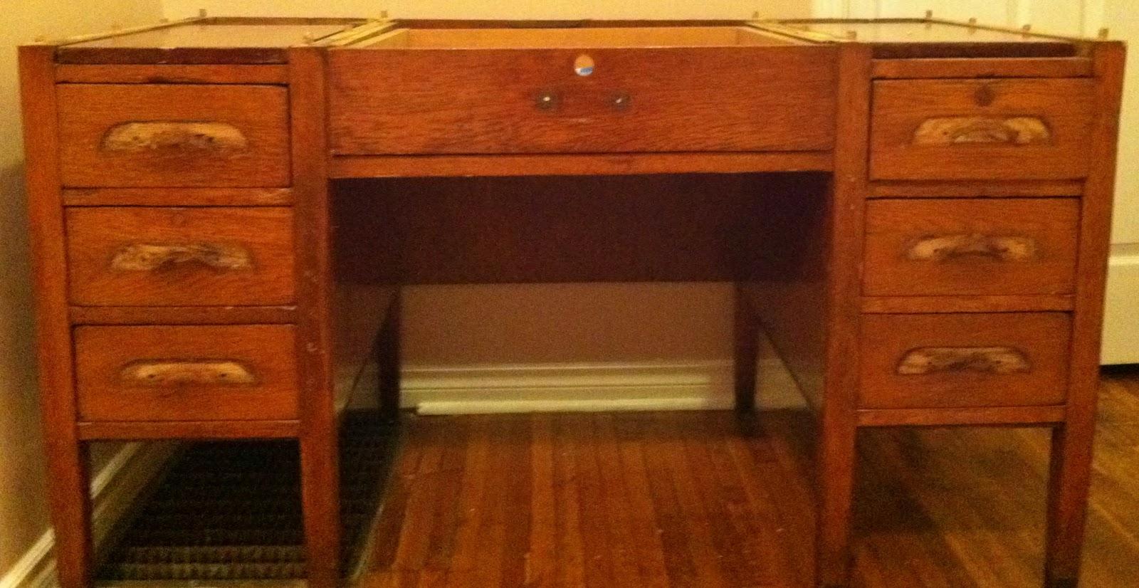 La Vie En Blanche Refurbished Oak Desk