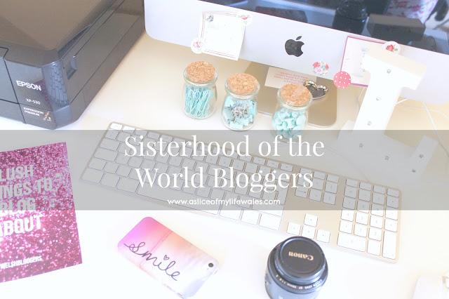 sisterhood of the world bloggers blogging tag header photo