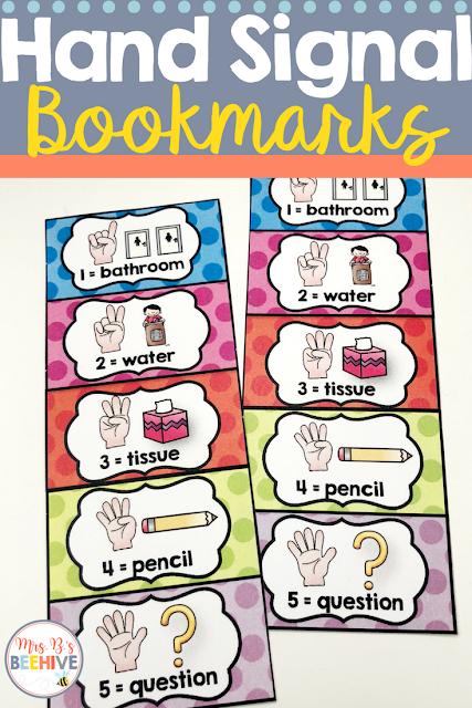 Hand Signal Bookmark