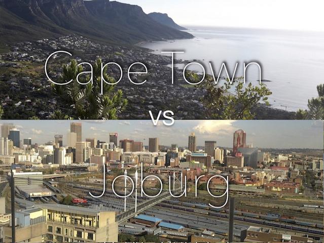 Cape Town vs Johannesburg