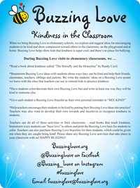Buzzing Love at the Elementary Level - Handout for Educators