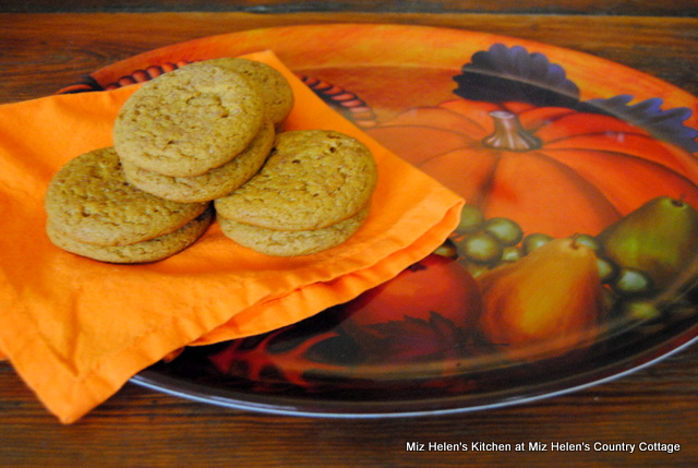 Pumpkin Sugar Cookies at Miz Helen's Country Cottage