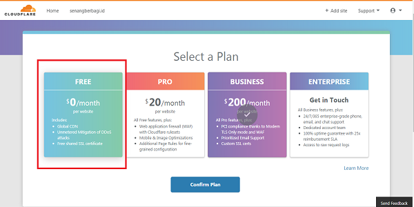 Cara Mendapatkan SSL HTTPS Gratis dari situs cloudflare