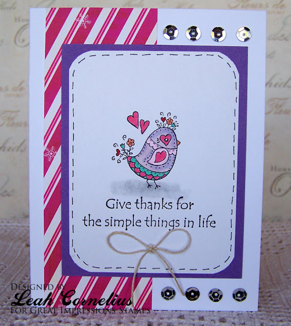 Great Impressions, Leah Cornelius, Patterned Chick, handmade card