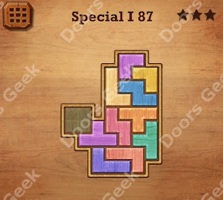 Cheats, Solutions, Walkthrough for Wood Block Puzzle Special I Level 87
