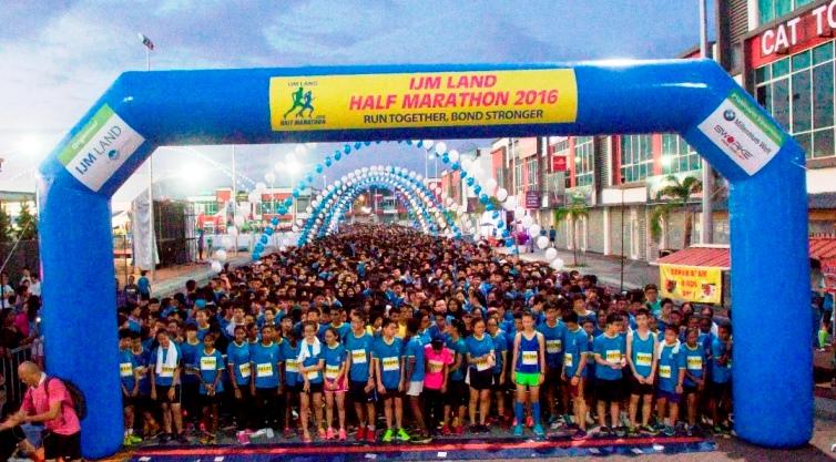 IJM Land Half Marathon 2016 Meriah Dengan 6000 Penyertaan