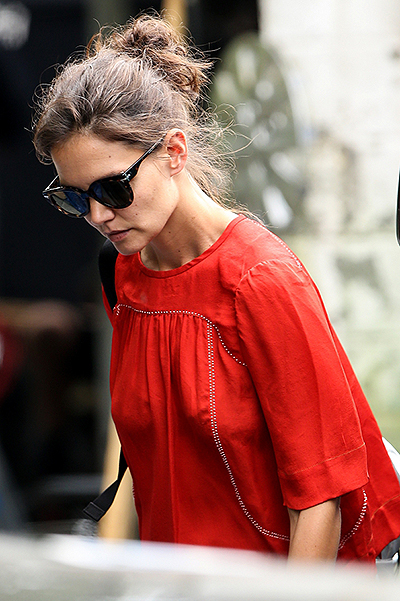 Katie Holmes during the filming of her directorial debut