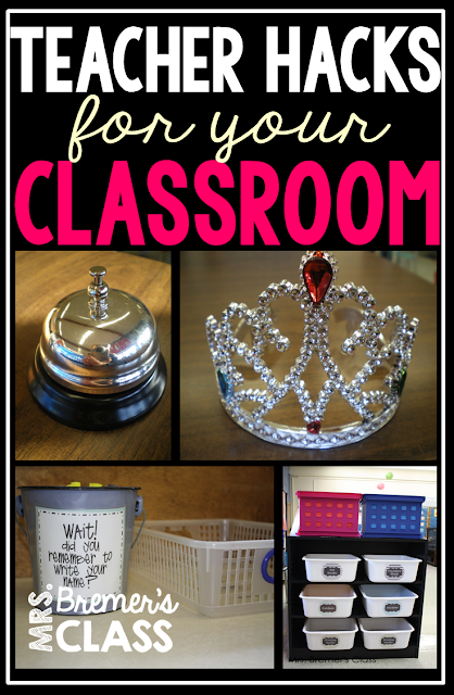 A post with lots of teacher hacks for the classroom!