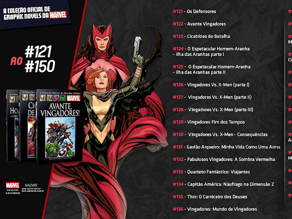Salvat divulga lista da 2ª expansão da coleção oficial de graphic novels Marvel