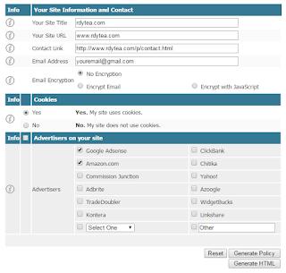 Cara Membuat Privacy Policy Untuk Blog / Website
