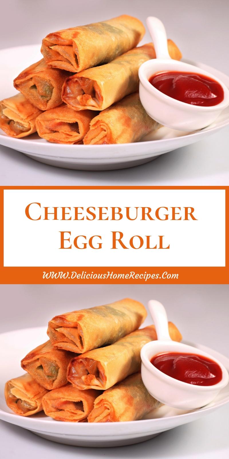 Cheeseburger Egg Roll