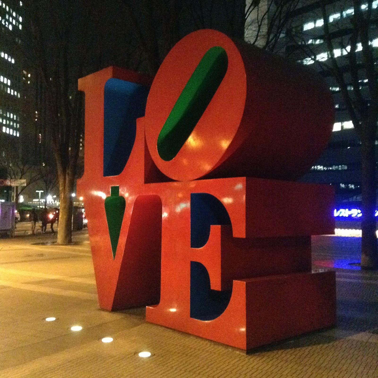 Love sculpture Shinjuku Tokyo