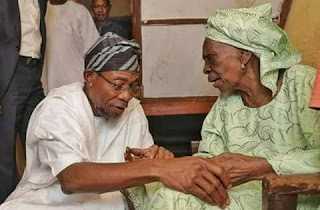 Aregbesola and mother