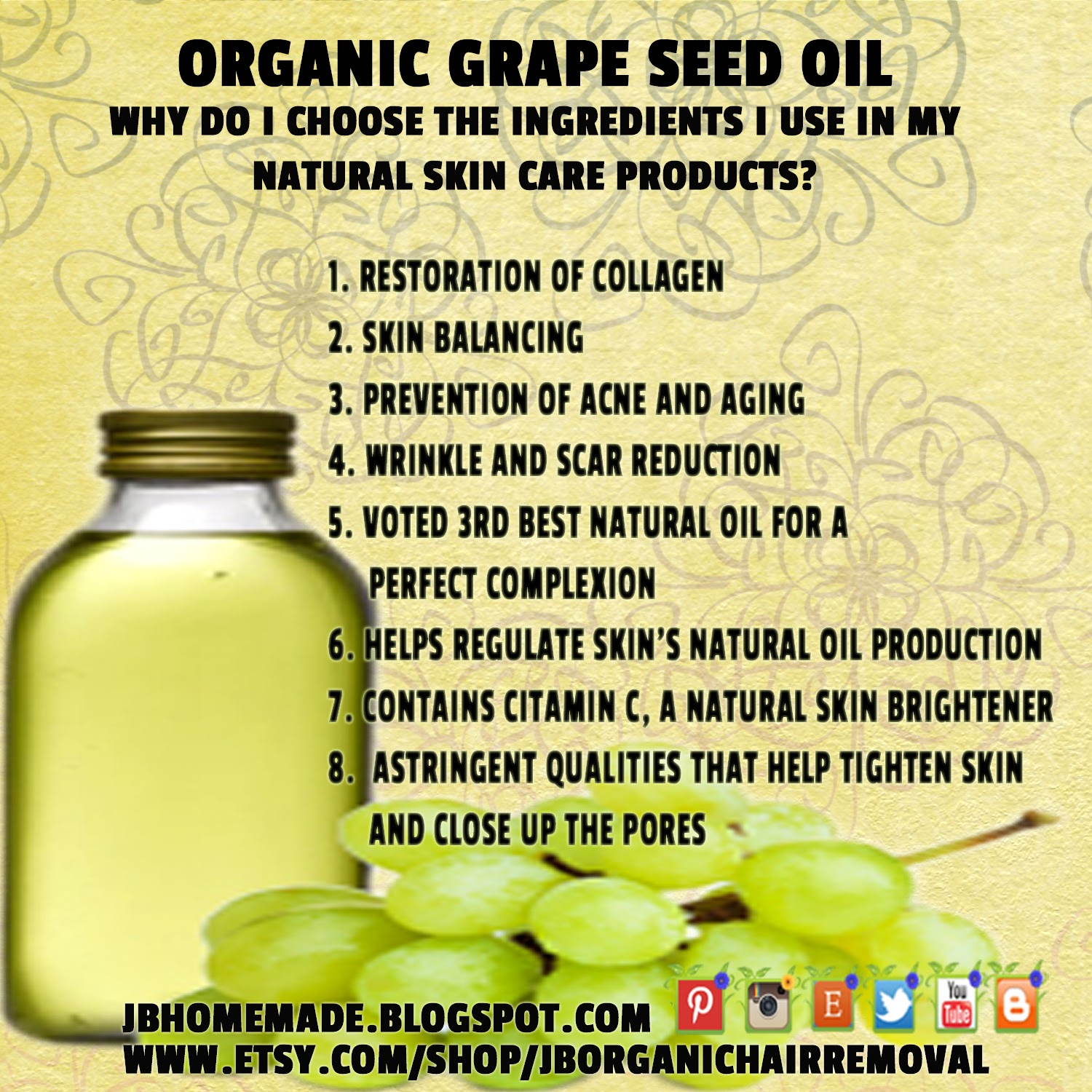 What is grapeseed oil used for