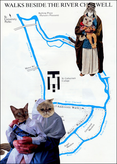 Cat people collage by Claudia MB