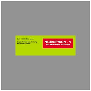 Neuropyron-V Kaplet : Methampyron + Vit B1, Vit B6, Vit B12