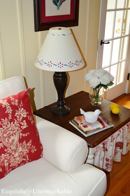 DIY Skirted Table Tutoria Ikea Hack