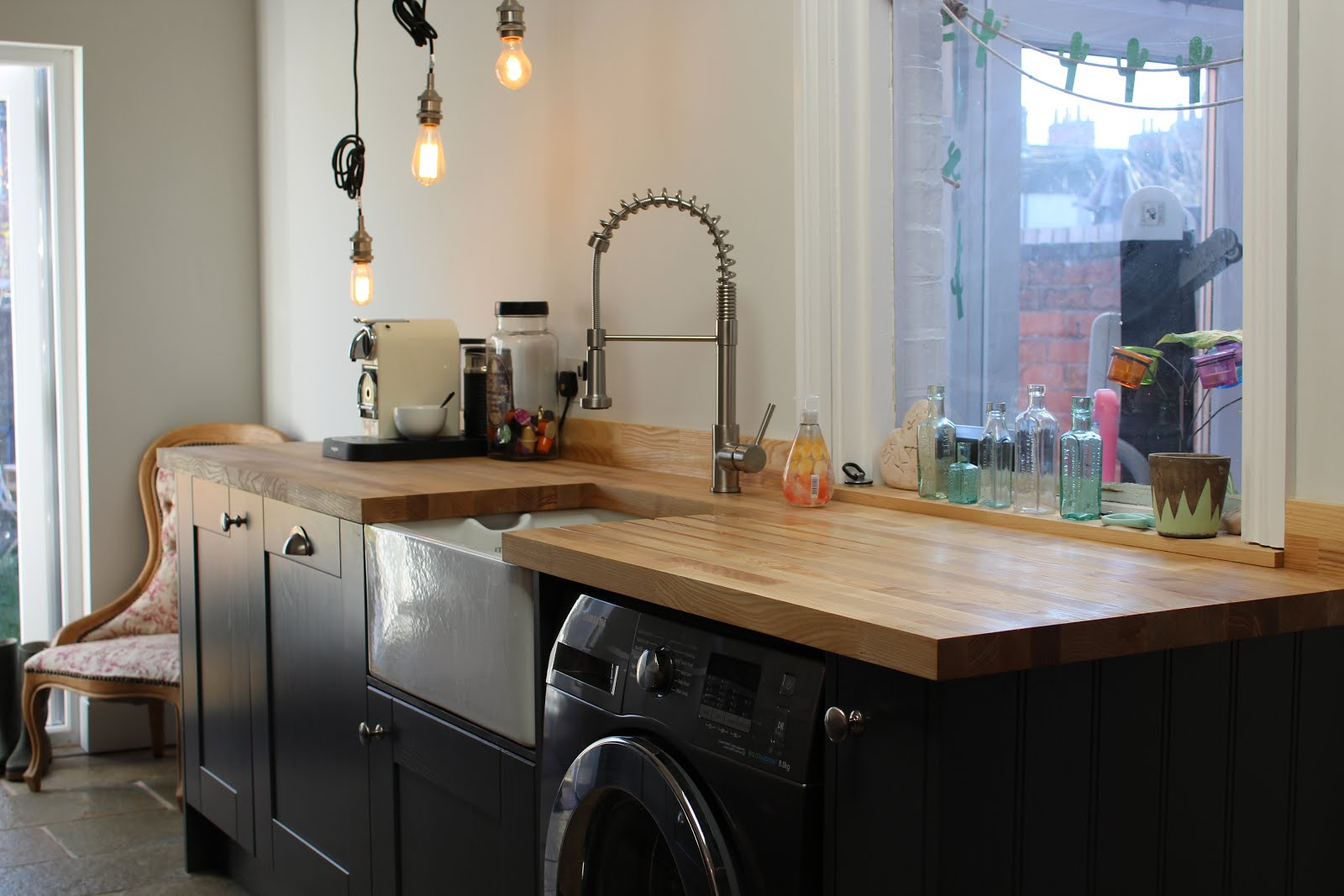 Ash Worktops with Grey