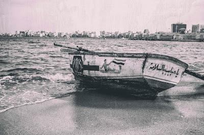 شاطئ المرسي أبو العباس - الأسكندرية، نوفمبر 2014.