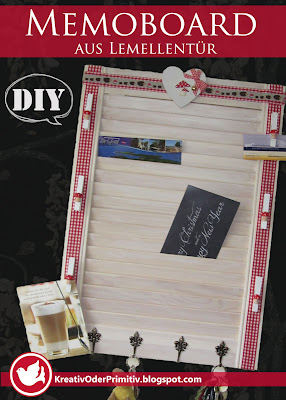 kreativ oder primitiv lamellent r wird zum memoboard. Black Bedroom Furniture Sets. Home Design Ideas