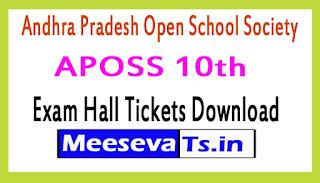 Andhra Pradesh Open School 10th Exam Hall Ticket