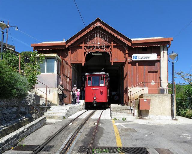 Rack railway Principe-Granarolo, Granarolo hill, Genoa