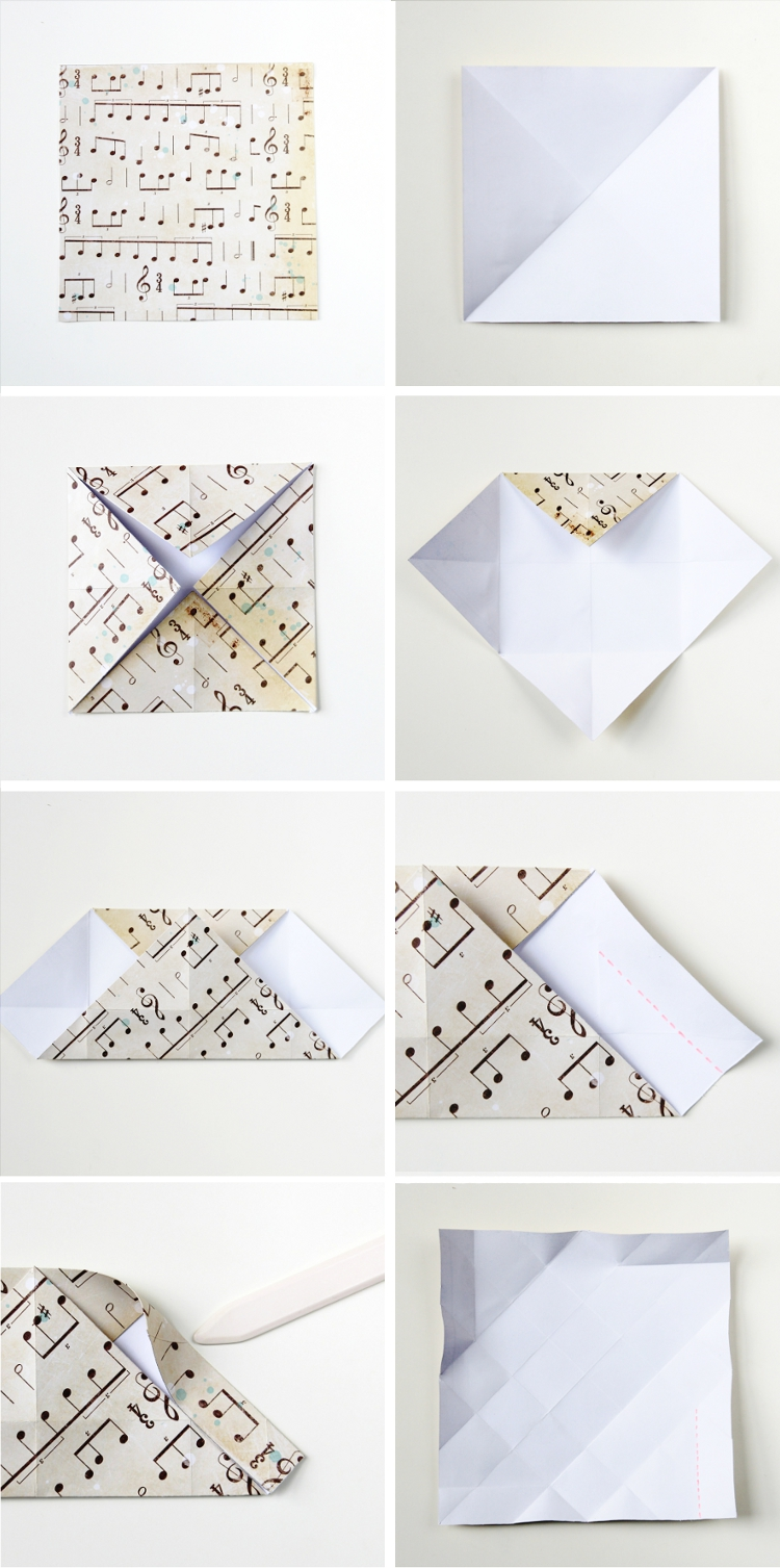 DIY SQUARE ORIGAMI BOX.