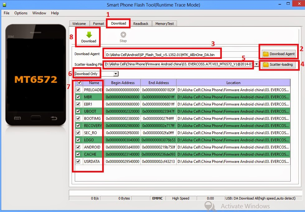 Tutorial cara flash evercoss a7t tanpa box