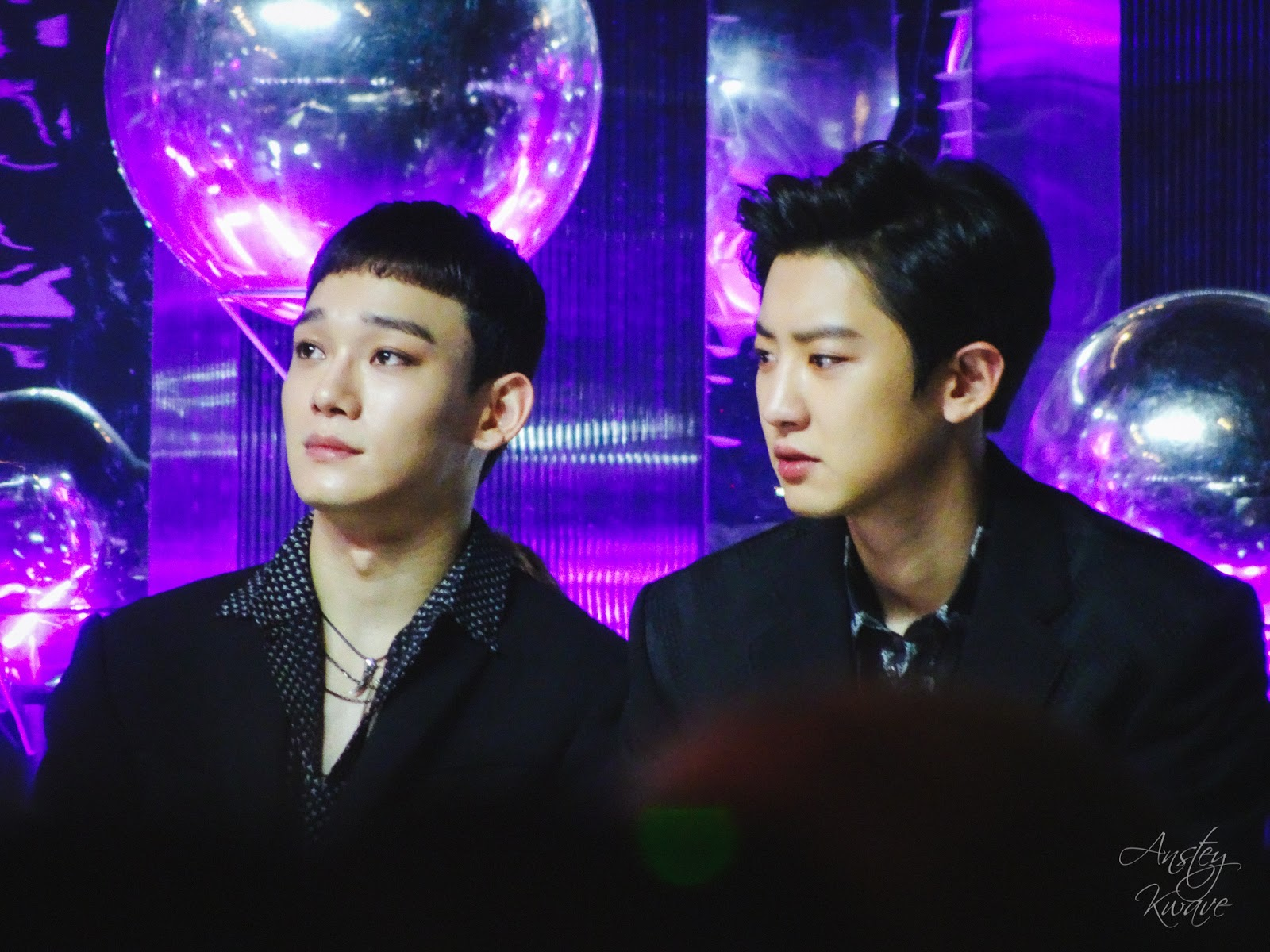 Chen and Chanyeol, members of famous Korean k-pop boy band EXO at Melon Music Awards (MMA) 2017 in Seoul, South Korea