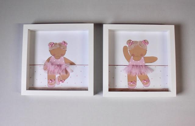 láminas de decoración infantil personalizadas de bailarinas de ballet