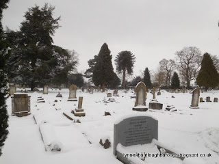 Snowy cemetery Loughborough