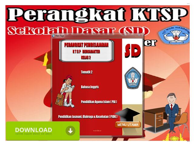 Perangkat Pembelajaran KTSP Berkarakter Kelas 2 SD/MI Lengkap Format Words