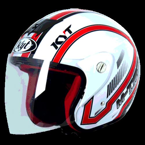 helm kyt M-Tech Simetri - White / Red (O.F)