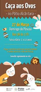 Pátio Alcântara lança campanha 'Caça aos Ovos de Páscoa'
