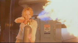 Elizabeth Shue Hollow Man 2000 flamethrower